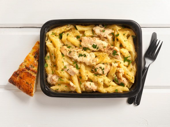 Chicken and Penne Alfredo Microwave Dinner