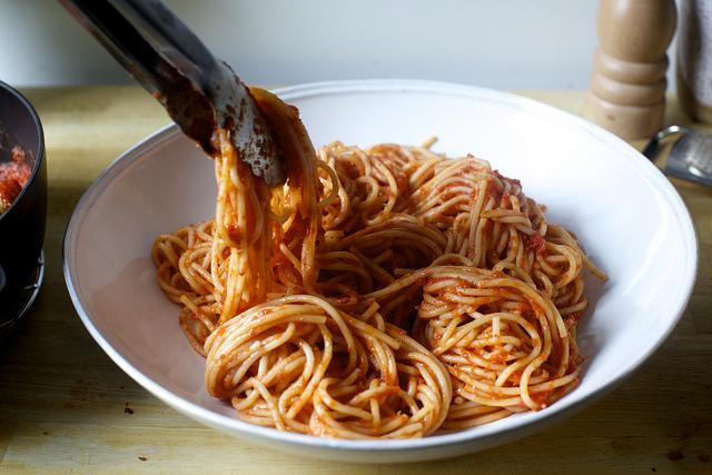 first the spaghetti