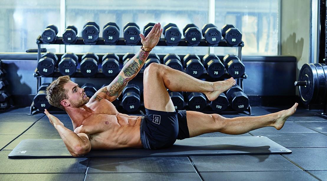 Man Exercising His Abs