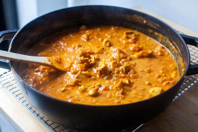 finished chicken tikka masala