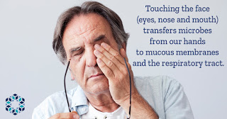 the role that touching the face plays in disease transmission