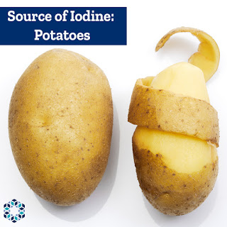 Fruit and Vegetables contain iodine Potatoes Prunes