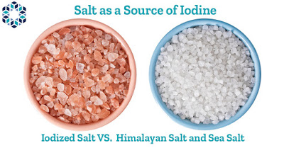 sea salt and Himalayan do not have as much iodine as iodized salt
