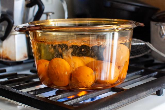 hard-boiling eggs